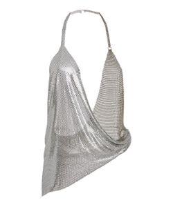 Fannie Schiavoni   Draped Metal Mesh Top