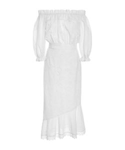 Saloni | Broderie Anglaise Cotton Dress