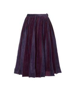 Jonathan Cohen   Suede Slash Skirt