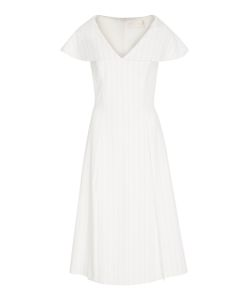 Christian Siriano | Pin Stripe Short Sleeve Dress