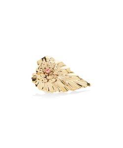Rodarte | Leaf Ring With Swarovski Crystal Detail