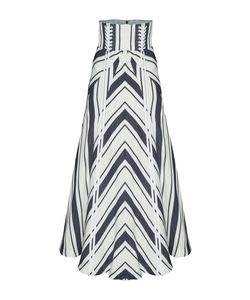 Alex Perry | The Ashton Stripe Eyelet Midi Skirt