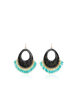 Ashley Pittman | Vuka Horn Bronze And Turquoise Earrings