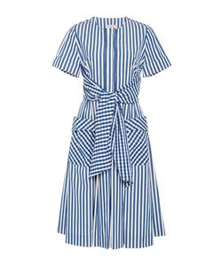 Dice Kayek | Short Sleeve Gingham And Striped Dress
