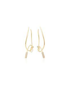 Joanna Laura Constantine | Plated Knot Hoop Earrings