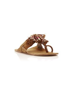 Figue | Striped Tassel Scaramouche Sandal
