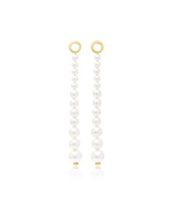 Joanna Laura Constantine | Plated And Swarovski Pearl Earrings