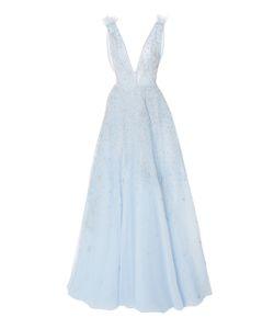Zuhair Murad   Embellished Plunging V-Neck Gown