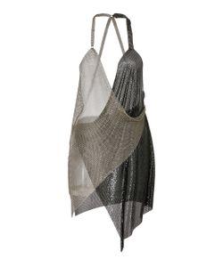 Fannie Schiavoni   Draped Metal Mesh Dress