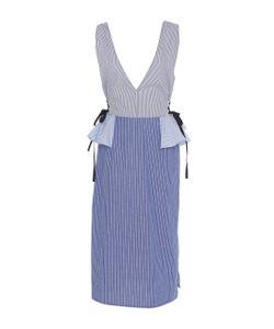 Tome | Cotton V-Neck Peplum Dress