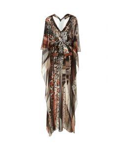 Roberto Cavalli   Embellished Printed Gown