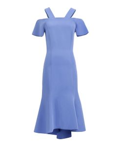 GINGER & SMART   Carmen Fluted Cold Shoulder Dress