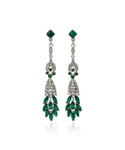 Ben Amun | Tone Crystal And Emerald Earrings