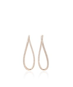 Anita Ko | Pave Twist Hoops