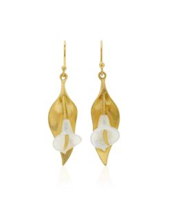 Annette Ferdinandsen | Cala Lily 18k Mother Of Pearl Earrings