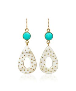 Ashley Pittman | Bendi Horn And Turquoise Earrings