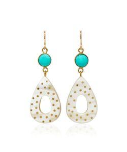 Ashley Pittman | Bendi Horn And Turquoise Earrings