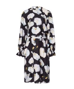 Jonathan Cohen | Abstract Orchid Twisted Dress