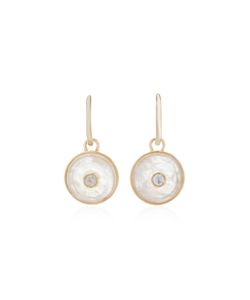 Noor Fares   Inle Carved Stone Dormeuse Earrings In With