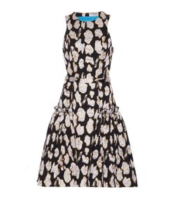 Jonathan Cohen | Abstract Orchid Jacquard Cocktail Dress