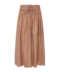 Ulla Johnson | Hilda Stitched Leather Skirt