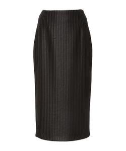 Sally Lapointe | Laminated Ribbed Pencil Skirt