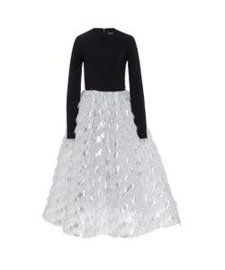 Christian Siriano | Fringe Tea Length Dress
