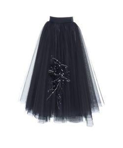 Dice Kayek | Sequin Embroidered Full Skirt