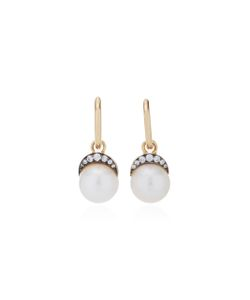 Noor Fares | Mala Drop Earrings In With Pearl