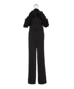 Emilio Pucci | Ruffled Chiffon-Trimmed Crepe Jumpsuit