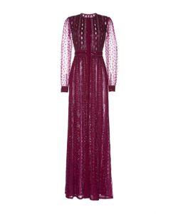 Zuhair Murad   Embroidered Georgette Dress