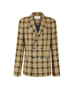 Strateas Carlucci | Check Macro Plated Double Breasted Blazer