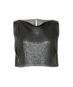 Fannie Schiavoni   Cropped Metal Mesh Top