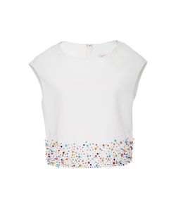 Dice Kayek | Multicolored Jewel Detailed Cropped Top