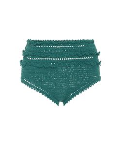 She Made Me | High-Rise Crocheted Bikini Bottoms