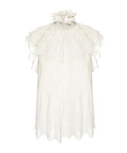 Ulla Johnson | Darla Embroidered Georgette Top