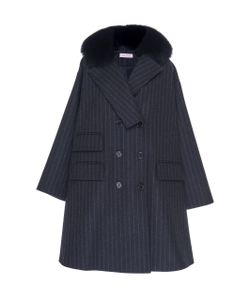 Dice Kayek | Double Breasted Coat With Fox Fur Collar