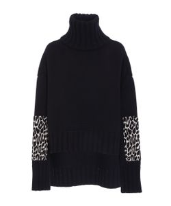 Sally Lapointe | Leopard Elbow Patch Pullover