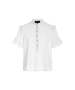 Saloni | Callie Broderie Anglaise Cotton Top
