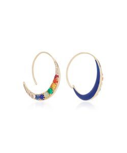 Noor Fares   Navratna Tribal Earrings In With Various Coloured