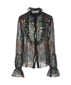 Anna Sui | Reigning Rainbow Chiffon Top
