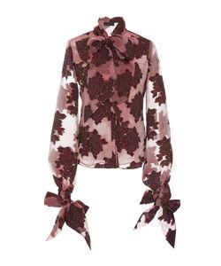 Co | Velvet Embroide Bow Shirt