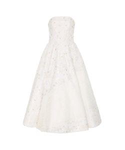 Christian Siriano | Embroidered Tea Length Dress