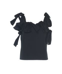 Maison Rabih Kayrouz | Poplin Cold Shoulder Tie Top