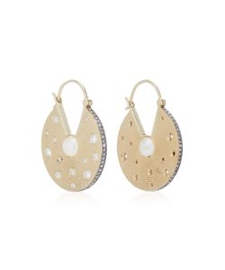 Noor Fares   Inle Chandbali Earrings In With Pearl