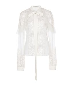 Elie Saab | Tulle And Lace Necktie Top