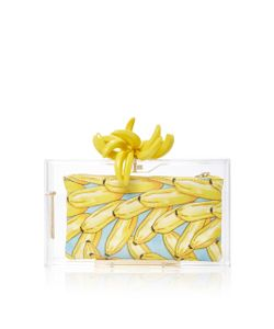 Charlotte Olympia | Bananas For Pandora Perspex Clutch