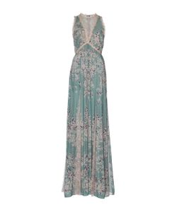 Zuhair Murad   Printed Flared Dress With Lace Godet And Macramé Details