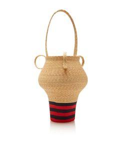 Rosie Assoulin | Navy And Stripe Jug Bag