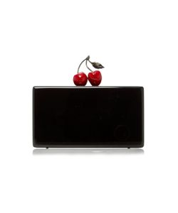 Edie Parker | Jean Cherry-Topped Acrylic Clutch